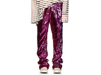 Faith Connexion Sequined Wide Leg Track Pants Pink