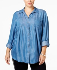 Styleandco. Style Co. Plus Size Denim Shirt Only At Macy's Sun Wash