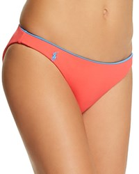 Ralph Lauren Polo Taylor Modern Solids Reversible Hipster Bikini Bottom Pool Guava