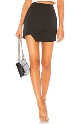 By The Way Saira Satin Mini Skirt Black