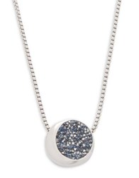 Kenneth Cole Twilight Crystal Pendant Necklace Silver