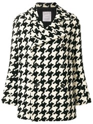 Yohji Yamamoto Vintage Houndstooth Double Breasted Jacket Multicolour