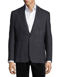 Billy Reid Rustin Two Button Sport Coat Charcoal