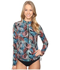 Carve Designs Cruz Rash Guard Black Kauai Women's Swimwear Multi