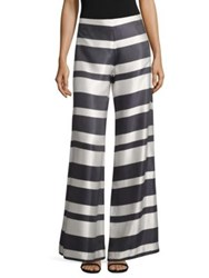 Trina Turk Netti Wide Leg Pants Indigo White Wash