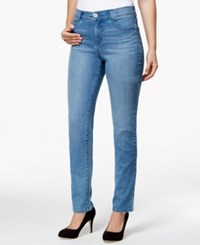 Styleandco. Style And Co. Petite Tummy Control Straight Leg Whistler Wash Jeans Only At Macy's