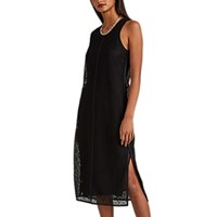 Helmut Lang Cotton Blend Lace Tank Dress Black