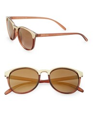Sam Edelman 51Mm Round Sunglasses Brown