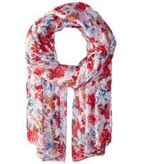 Bindya Striped And Floral Scarf Multi Scarves