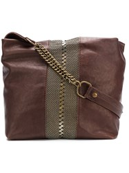 Laura B Mini Maxi Testa Bag Brown