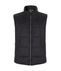 Harrods Of London Quilted Cashmere Gilet Navy