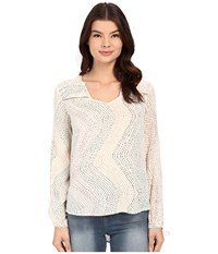 Brigitte Bailey Jasha Printed Top Multi Combo Women's Blouse