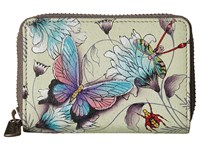 Anuschka Handbags 1110 Credit And Business Card Holder Wondrous Wings Coin Purse White