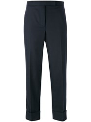 Thom Browne Side Stripes Cropped Trousers Blue