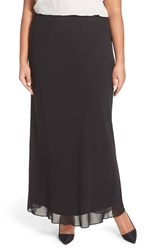 Plus Size Women's Alex Evenings Chiffon Maxi Skirt Black