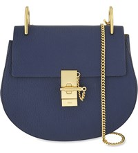 Chloe Drew Small Leather Cross Body Bag Navy