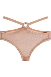 Agent Provocateur Phoebe Metallic Stretch Mesh Briefs Antique Rose