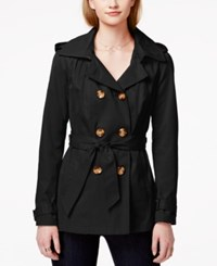 Madden Girl Madden Girl Double Breasted Hooded Trench Coat