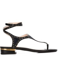 Lanvin Thong Strap Sandals Black