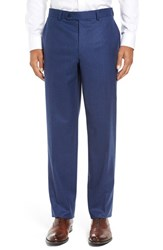 David Donahue Men's Big And Tall 'Ryan' Classic Fit Trousers Blue
