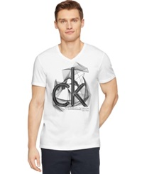 Calvin Klein Ck One Logo Graphic Slim Fit T Shirt