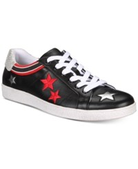 Inc International Concepts I.N.C. Cosmic Patchwork Low Top Sneakers Created For Macy's Shoes Black