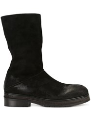 Marsell Distressed Boots Black