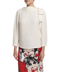 Marc Jacobs 3 4 Sleeve V'd Back Blouse White