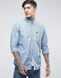 Lee Buttondown Chambray Shirt Blue Ice Blue Ice