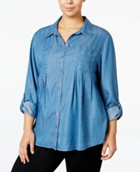 Style And Co Plus Size Denim Shirt Only At Macy's Baby Dots