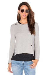Generation Love Eliza Holes Long Sleeve Top Light Gray
