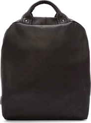 Yohji Yamamoto Black Supple Leather Backpack