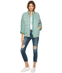 Free People Dolman Quilted Jacket Light Green Women's Coat