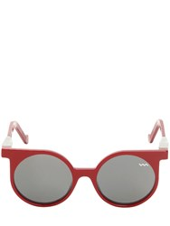 Vava Round Frame Sunglasses Red