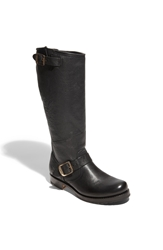 Frye 'Veronica Slouch' Leather Engineer Boot Black
