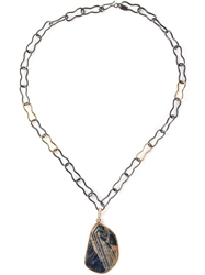 Kelly Wearstler 'Geary' Pendant Necklace Black