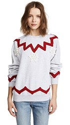 Michaela Buerger Snowflake Trio Sweatshirt Light Grey