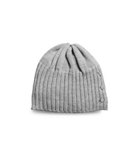 Michael Kors Button Up Knitted Hat Pearl Grey