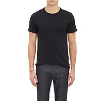 Barneys New York Men's Jersey Crewneck T Shirt Black Blue Black Blue