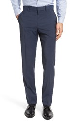 Theory Men's Marlo Flat Front Plaid Wool Trousers