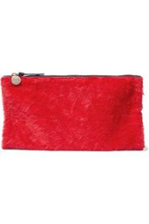 Clare V. Calf Hair Clutch Red
