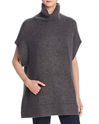 Minnie Rose Cashmere Poncho Style Tunic Top Charcoal