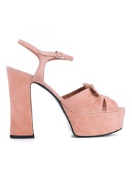 Saint Laurent Candy 80 Bow Sandals Pink And Purple