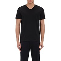 Vince. Men's Pima Cotton V Neck T Shirt Black Blue Black Blue