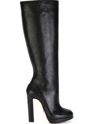 Viktor And Rolf Chunky Heel Knee Boots Black