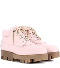 Acne Studios Tinne Leather Boots Pink