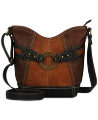 B.O.C. Brimfield Scoop Tulip Crossbody Chocolate Saddle Walnut