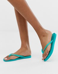 Havaianas Slim Flip Flops In Bright Turquoise Blue