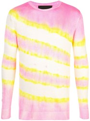 The Elder Statesman Raya Silk Sweater Pink