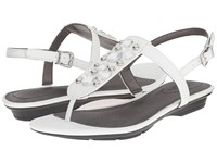 Lifestride Envy White Women's Dress Flat Shoes